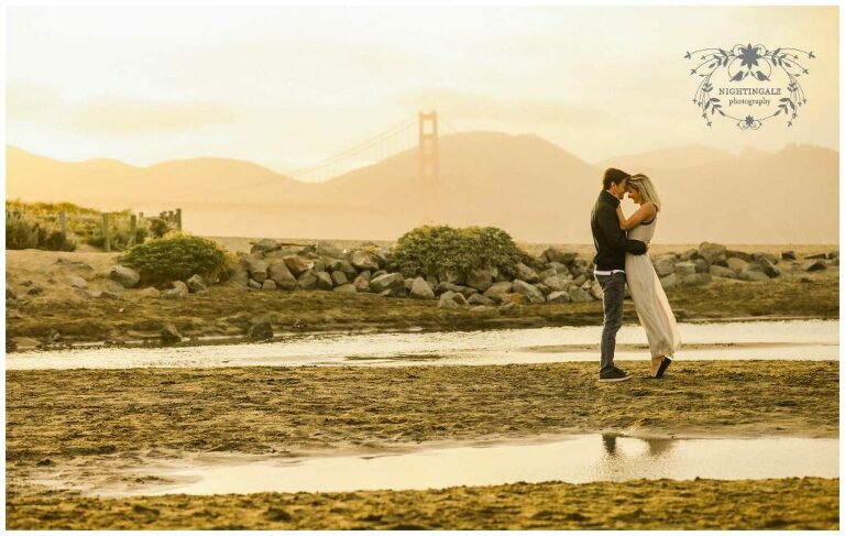 Crissy Field engagement session photos