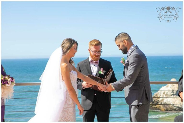 Intimate San Francisco wedding with ocean views at the Cliff House venue in San Francisco