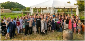 photo of all the guests at this california small wedding