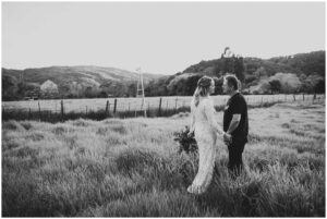 intimate wedding takes place in northern california ranch