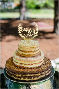 simple homeade wedding cake