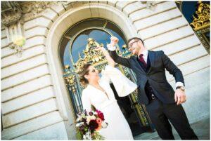 sf city hall wedding - elopement portrait