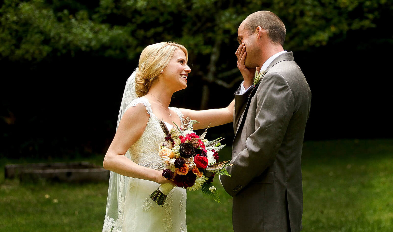 San Francisco wedding photographer - bride and groom outdoors